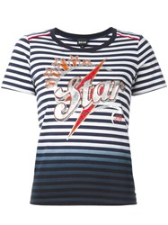Just Cavalli Striped T Shirt Blue
