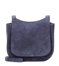 The Row Hunting 7 Suede Shoulder Bag Blue