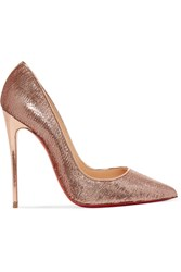 Christian Louboutin So Kate 120 Sequined Canvas Pumps Gold
