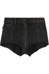 Vetements Levi's Distressed Denim Shorts Black