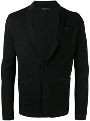 Emporio Armani Fitted Knitted Blazer Black