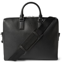 Gucci Black Grained Leather Briefcase