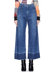 Rachel Comey 'Legion' Raw Edge Cuff Wide Leg Jeans Blue