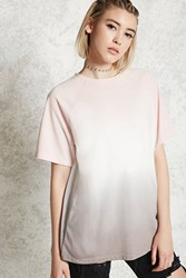 Forever 21 Contemporary Ombre Tee Taupe Pink