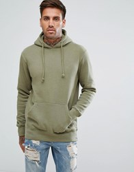 Pull And Bear Pullandbear Hoodie In Khaki Khaki Green