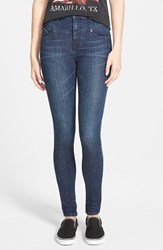 Junior Women's Volcom High Waist Skinny Jeans Double Down Indigo
