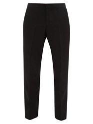 Burberry Silk Trimmed Wool Tuxedo Trousers Black