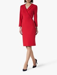 Lk Bennett L.K.Bennett Effie Wrap Tailored Dress Roca Red