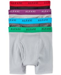 Alfani Men's Knit Boxer Briefs 4 Pack Only At Macy's Grey Black