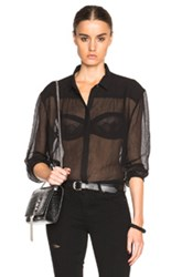 Atm Anthony Thomas Melillo Gathered Yoke Top In Black