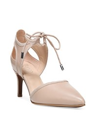 Franco Sarto Darlis Leather Point Toe Pumps Beige