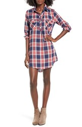 Mimi Chica Women's Flannel Plaid Shirtdress