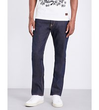 Evisu Regular Fit Metallic Print Jeans Indx