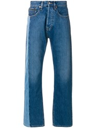 Calvin Klein Jeans Straight Leg With Contrasting Panel Blue