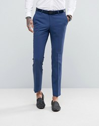 Noose And Monkey Super Skinny Suit Trousers Dark Blue