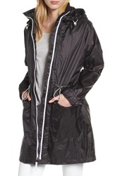 London Fog Contrast Zip Anorak Jacket Black