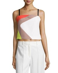 Milly Cropped Cady Colorblock Tank Multi Colors