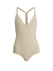 Made By Dawn Traveler Racer Back Swimsuit Cream