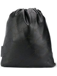 Stella Mccartney Mini Monogram Backpack Black