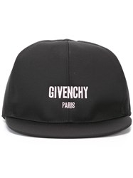 Givenchy Logo Embroidered Cap Black