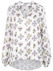 Tufi Duek Cut Out Printed Shirt Viscose