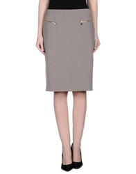 Fay Knee Length Skirts Military Green