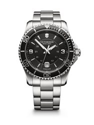 Victorinox Maverick Stainless Steel Bracelet Watch Black