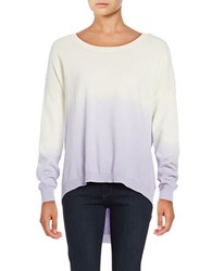 Design Lab Lord And Taylor Ombre Crewneck Sweater Lavender