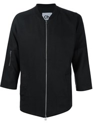 Chapter Three Quarters Sleeve Lightweight Jacket Black