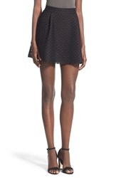 Junior Women's Lush Pleated Fit And Flare Miniskirt Black