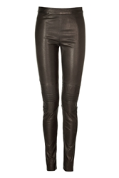 Neil Barrett Leather Leggings With Quilted Knee Patches