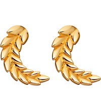 Astley Clarke Mini Olive Crown Biography 18Ct Yellow Gold Plated Stud Earrings