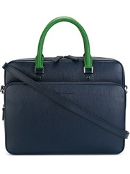 Salvatore Ferragamo Classic Briefcase Blue