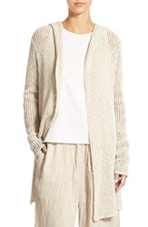 Women's James Perse Open Stitch Hooded Cardigan