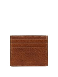 Brunello Cucinelli Grained Leather Card Holder Brown