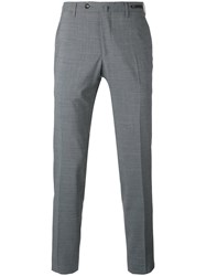 Pt01 Tailored Trousers Men Polyester Spandex Elastane Virgin Wool 48 Grey