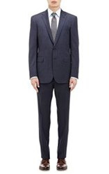 Ralph Lauren Black Label Micro Checked Two Button Anthony Suit Blue Si