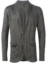 John Varvatos Crinkled Blazer Sweater Grey