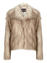 Phase Eight Zola Faux Fur Jacket Stone
