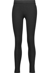 Vince Scrunch Marled Jersey Leggings Charcoal