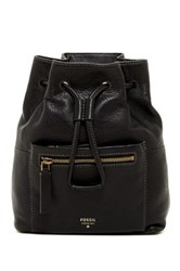 Fossil Vickery Mini Leather Backpack Black