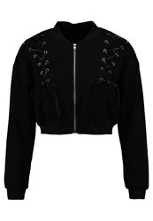 Missguided Petite Cocoon Bomber Jacket Black