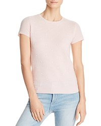 Bloomingdale's C By Embellished Cashmere Crewneck Sweater 100 Exclusive Light Pink