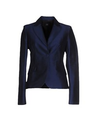 Ter De Caractere Suits And Jackets Blazers Women Dark Blue