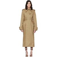 Thierry Mugler Beige Structured Trench Coat