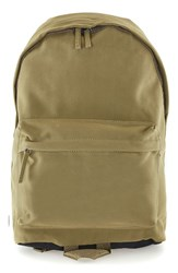 Topman Men's Faux Suede Backpack Green Olive