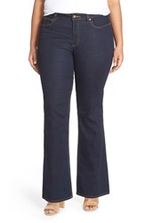Plus Size Women's Two By Vince Camuto Super Stretch Flare Leg Jeans Midnight