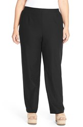 Plus Size Women's Eileen Fisher Washable Stretch Crepe Knit Pants Black