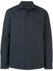 Theory Striped Shirt Blue