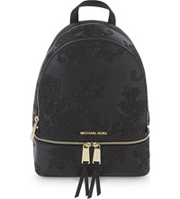 Michael Michael Kors Rhea Lace Medium Leather Backpack Black